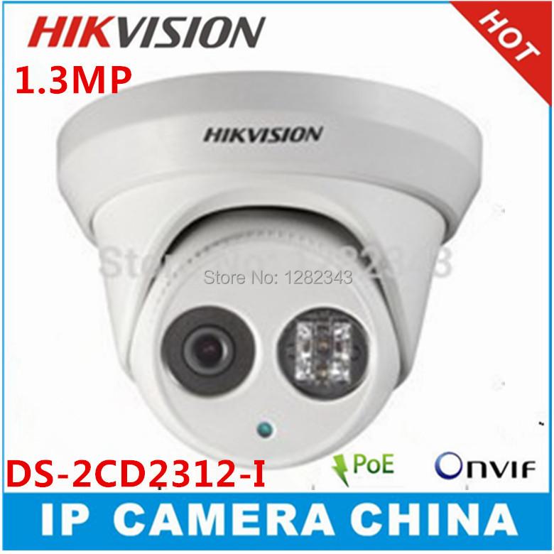 Hikvision 1.3MP Dome IP Camera DS-2CD2312-I 1pcs Array Led 30m IR Range 960P IR Security Camera With POE Network CCTV Camera(China (Mainland))