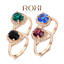 ROXI classic rings,rose gold plated top quality make with genuine Austrian crystals four color, fashion jewelry,2010012325