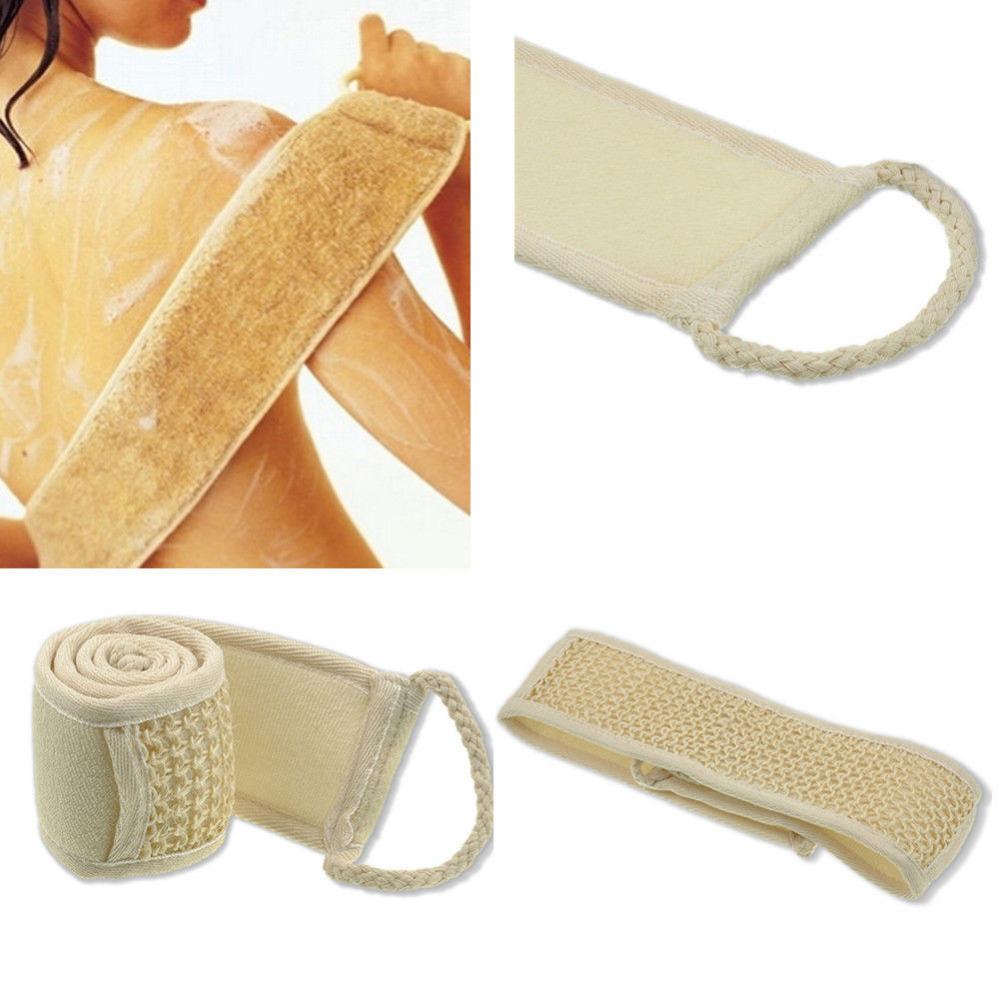 Exfoliating Loofah Back Strap Bath Shower Body Sponge Loofa Body Scrubber Brush