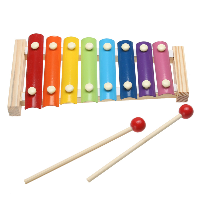 Child Kid Baby 8-Note Wooden Xylophone Musical Toys Xylophone Wisdom Juguetes Music Instrument(China (Mainland))