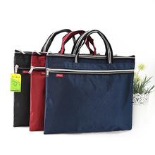 A4 Canvas Tote File Folder Waterproof Business Document Bag Filing Meeting Handbag Zipper Layer Pocket Office Briefcase Supplies(China (Mainland))