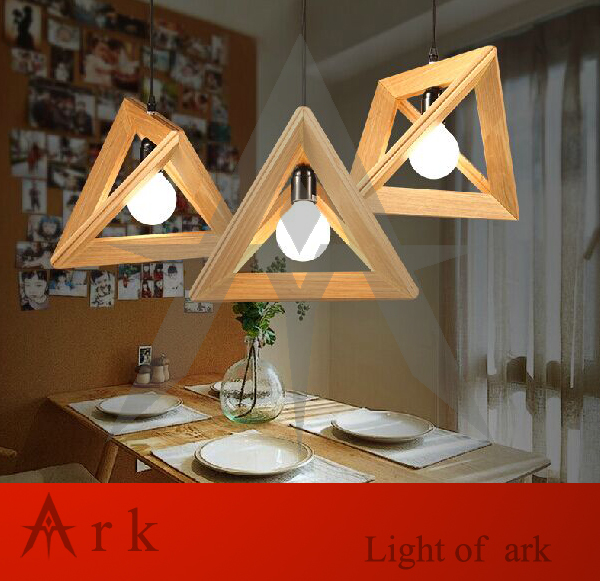 Fashion Design Contemporary and Contracted Shuttle Wooden Triangle Droplight Pendant Lamp  WOOD LAMP<br><br>Aliexpress
