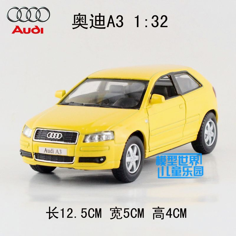 Brand New 1/32 Scale KINGSMART Pull Back Car Toys Audi A3 Diecast Metal Car Model Toy For Gift/Children/Collection(China (Mainland))