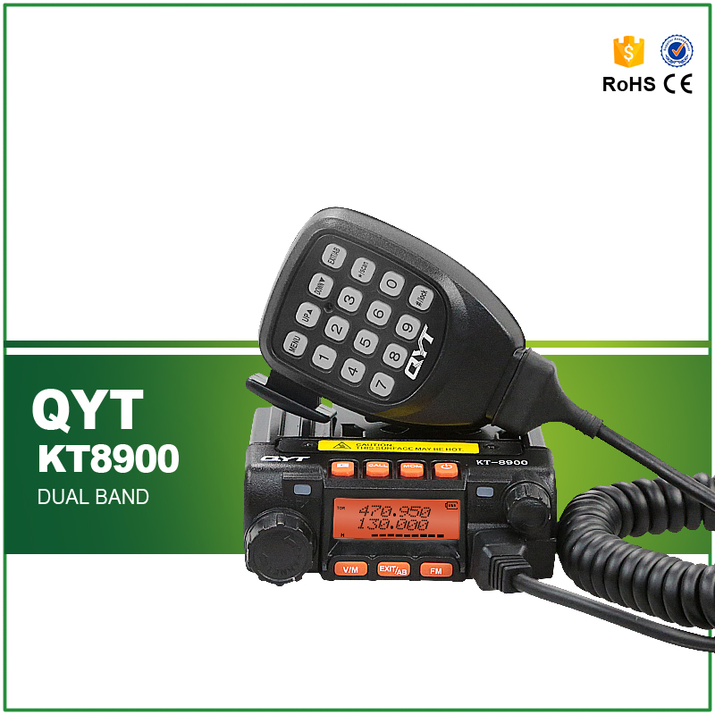 Hot Sell 100% Original QYT KT-8900 Ham Amateur Car Radio Walkie Talkie with Programming Cable and CD(China (Mainland))