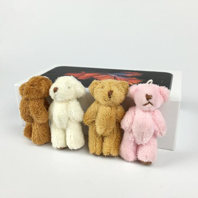 100 шт./лот 6 см супер милый мини-суставные боути несут длинные плюшевые игрушки детей чучело куклы свадебный подарок для детей BL1165