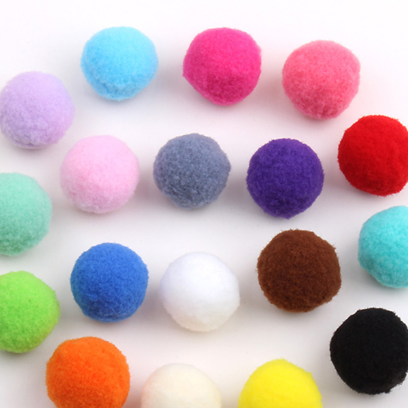 500pcs/lot Approx 23-25mm Multi Color Pompom Fur Craft DIY Soft Pom Poms Wedding Decoration Accessories(China (Mainland))
