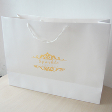 100pcs/lot 40*60*20cm name ideas bag paper bag with gold print ,famous name brand shopping bags,luxury paper shopping bag(China (Mainland))