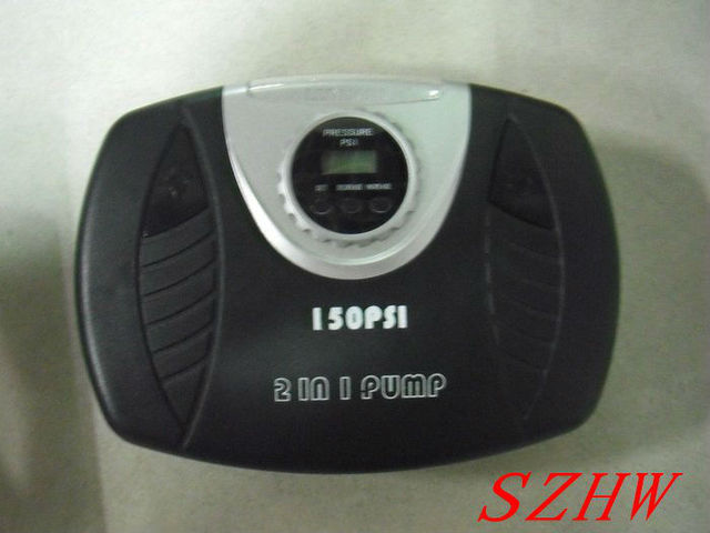 Compact stylish Car air pump NE-615, digital display pressure , 2 in 1, 120W, 150PSI, free shipping