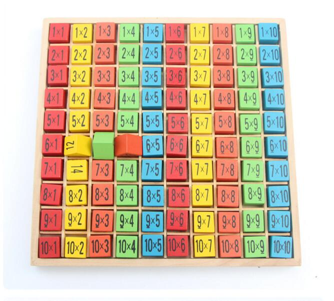 Buy arrived montessori educational wooden toys digit for Multiplication table of 99