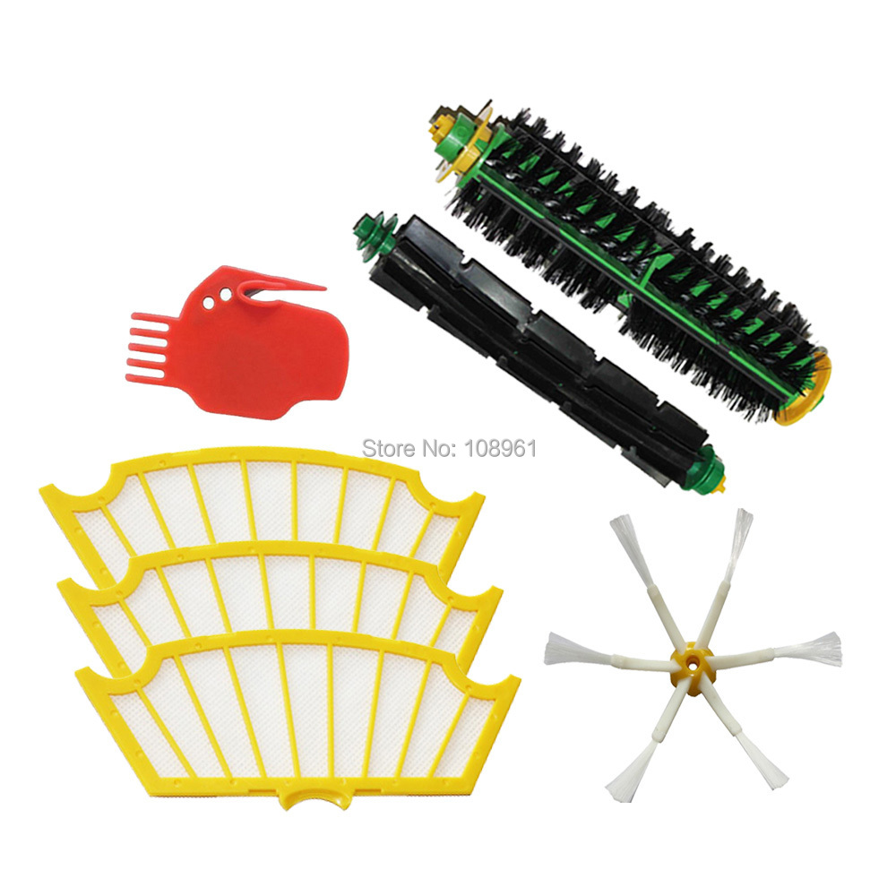 Потребительские товары 6/irobot Roomba 500 for iRobot Roomba 500 Series 760 770 780 790 3 pack 3 armed side brush replace for irobot roomba vacuum 800 series 880 870 900 series 980 vacuum cleaning accessory kit