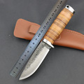 HOT Handmade Hunting Tactical Fixed Blade Knife Pattern Steel Blade Camping Pocket Survival Straight Knives