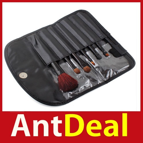 Wonderful! antdeal New 7 PCS Makeup Brush Cosmetic Brushes Set With Case 24 hours dispatch New fashional(China (Mainland))