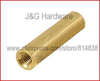 Гаджет  Hex nut / screw M3 x 45 Hex head Brass Threaded Pillar Female PCB Stand Off Spacer 200 pieces None Аппаратные средства