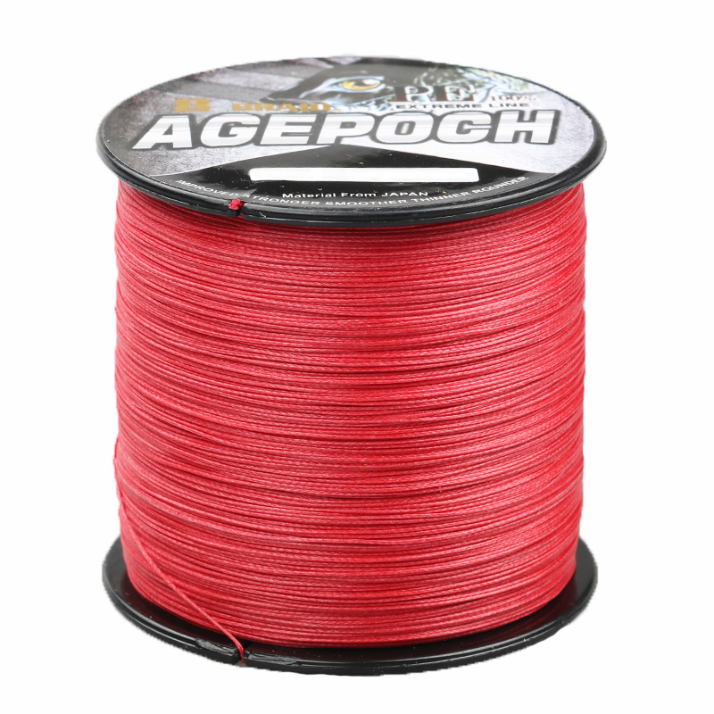 2016 New Arrival Material From Japan AGEPOCH 300M 8 Strand 6-300LB Fishing Line Braided Multifilament Fishing Line Red(China (Mainland))