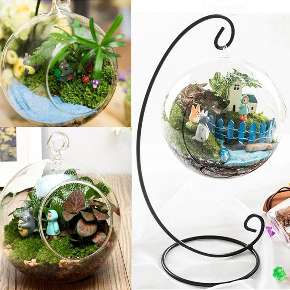 Clear round glass vase bottle terrarium hydroponic container pot flower diy home table wedding Diy home decor flower vase