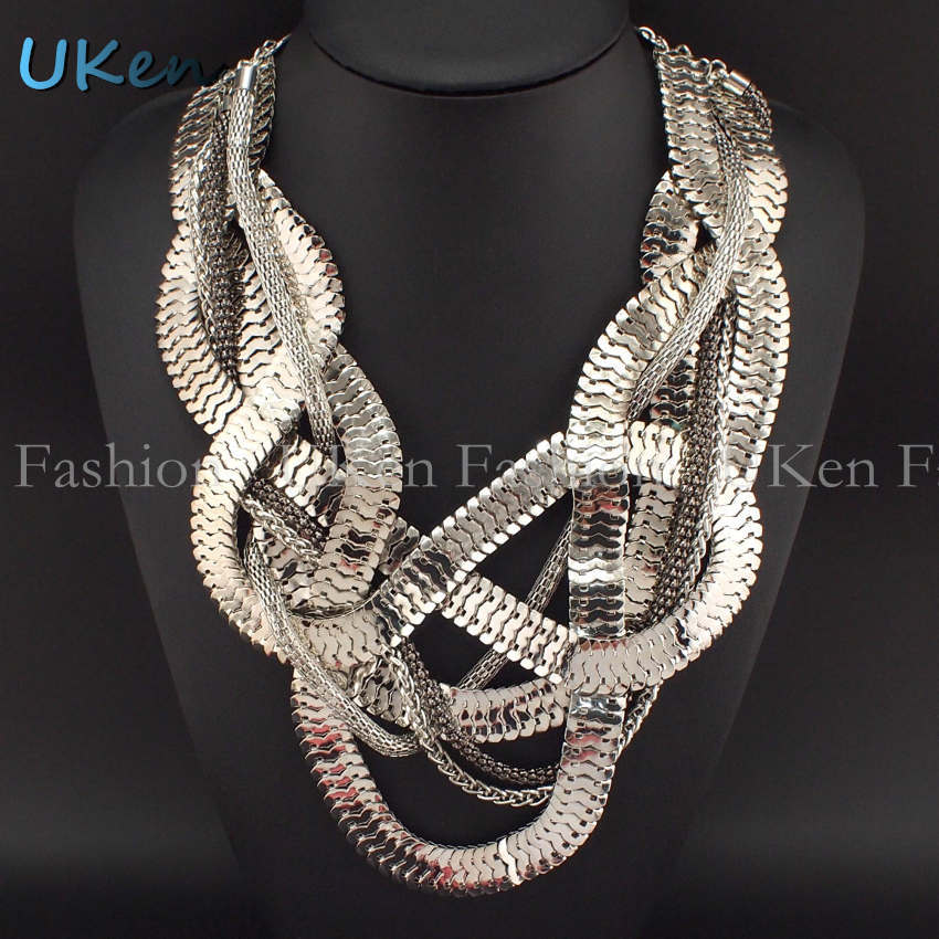 Big Chunky Necklaces Fashion Jewelry Fashion Chunky Snake Chain