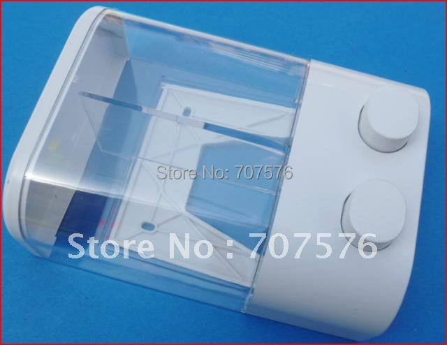 Free Shipping Small Wholesale 2*350ml European Bathroom Plastic Double box hand soap dispenser for Gel Shampoo TSD19  White