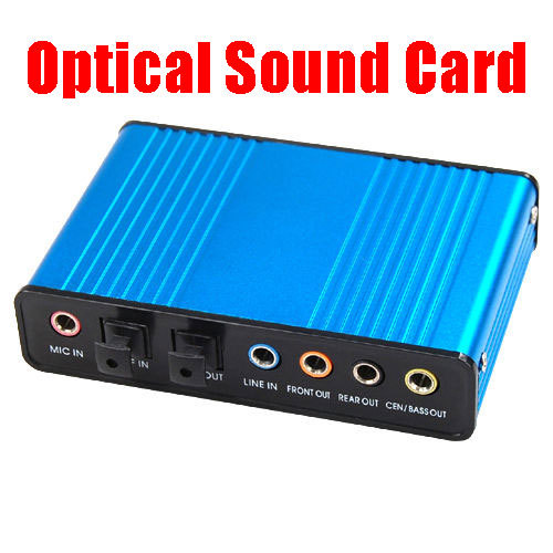 External Optical USB Sound Card 6 Channel 5.1 Audio Sound Card Adapter SPDIF Optical Controller for PC Laptop Computer(China (Mainland))
