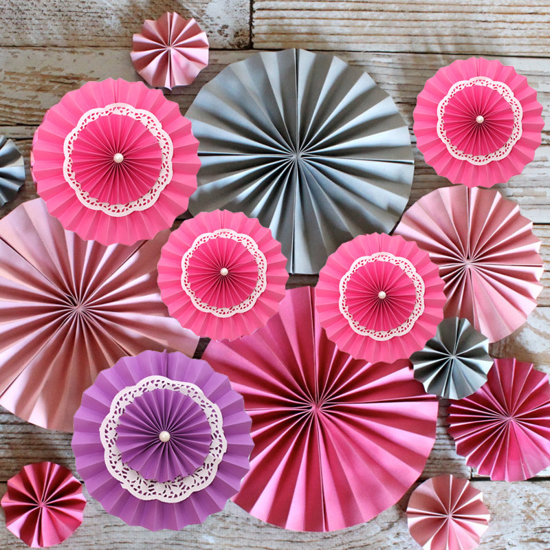 10pcs/lot 12inch 3 Layers Tissue Hanging Paper Fan Crafts Wedding Party Festive Decoration Holiday Supplies(China (Mainland))