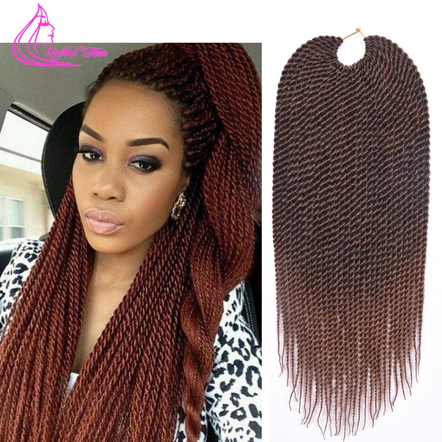 "Ombre Braiding Hair 18"" 75g/pack Crochet Twist Hair 30 Strands Faux Locs Crochet Braids Hair Extensions Crotchet Braiding Hair(China (Mainland))"