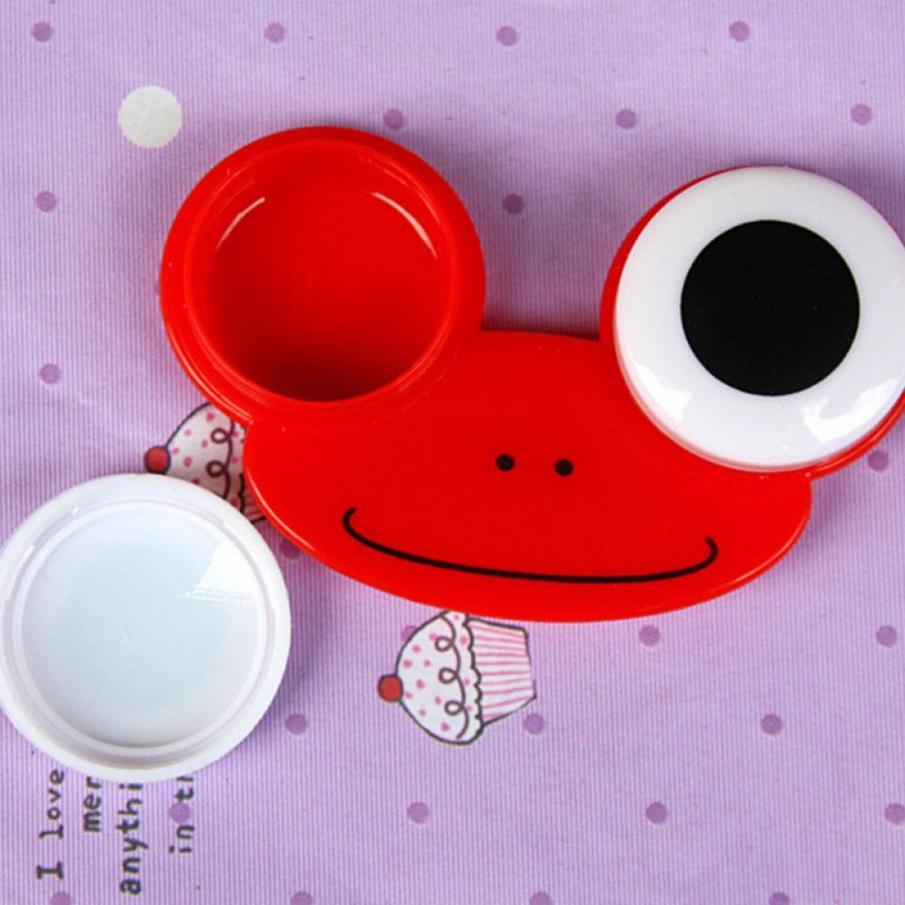 Lindo encantador Animal Diseño Soak Almacenamiento de Viaje Contact Lens Case Box Set de Limpieza
