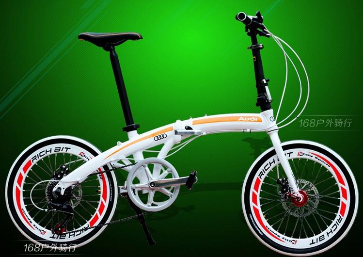 Free shipping Audi aluminium alloy folding bicycle(China (Mainland))