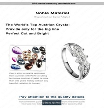 Cute 18K Rose Gold Platinum Plate Austrian Crystal Rings Couple Ring For Women 23 9mm RIC0025