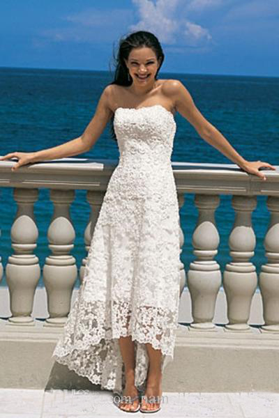 Simple white summer wedding dresses