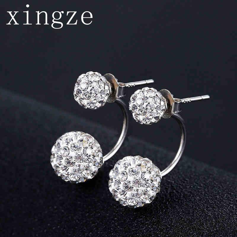 Silver plated jewelry Rhinestones Earrings Micro-Rhinestone princess stud earrings female fine jewelry wholesale(China (Mainland))