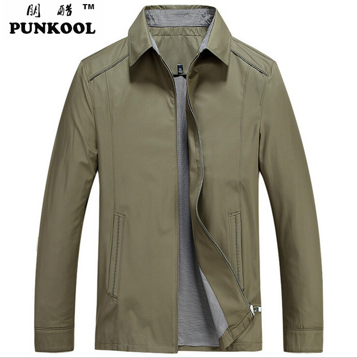 New Fashion Spring  Men Casual British Style Business Jacket Coat Male Stand Collar Zipper Slim Fit  Overcoat Size:M~3XLОдежда и ак�е��уары<br><br><br>Aliexpress