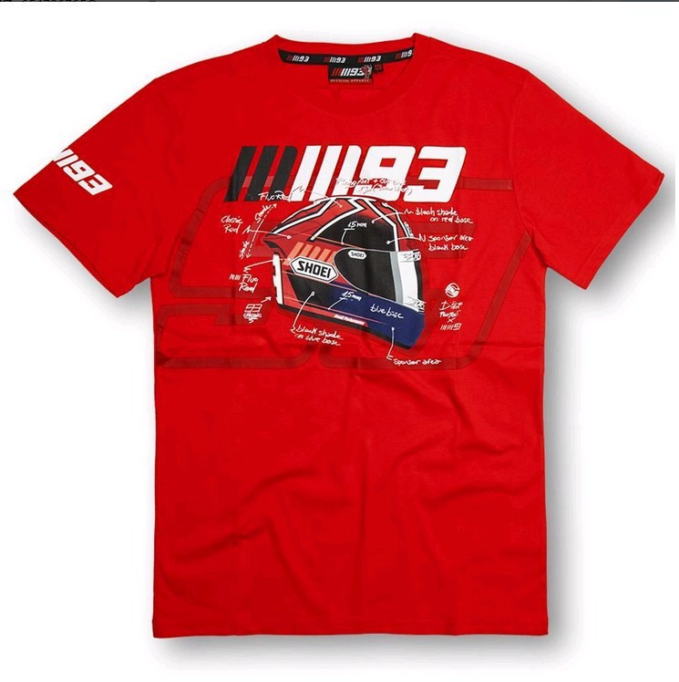 93 Marc Marquez T Shirts 2015 World Champion Official Marc Marquez #93 MOTOGP Limited 100% Cotton Tee T-Shirt Men Clothing XL25(China (Mainland))