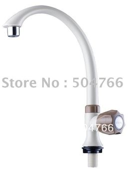 retail and wholesale 100% ABS material swan sink cock/kitchen faucets tas 4 colors