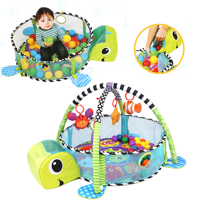 Baby Floor Toys : Baby play mat tortoise cartoon toys infant floor blanket
