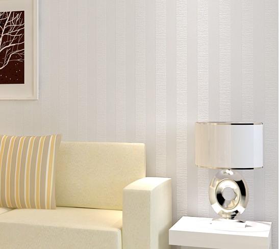 Blanco rayas verticales de fondo del papel pintado pared - Papel pared rayas verticales ...