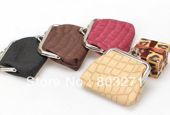 New Arrival PU Lady Coin Purses Pouch Woman Fashion Wallets ,Multi Colors, 2PCS/Lot-Free Shipping