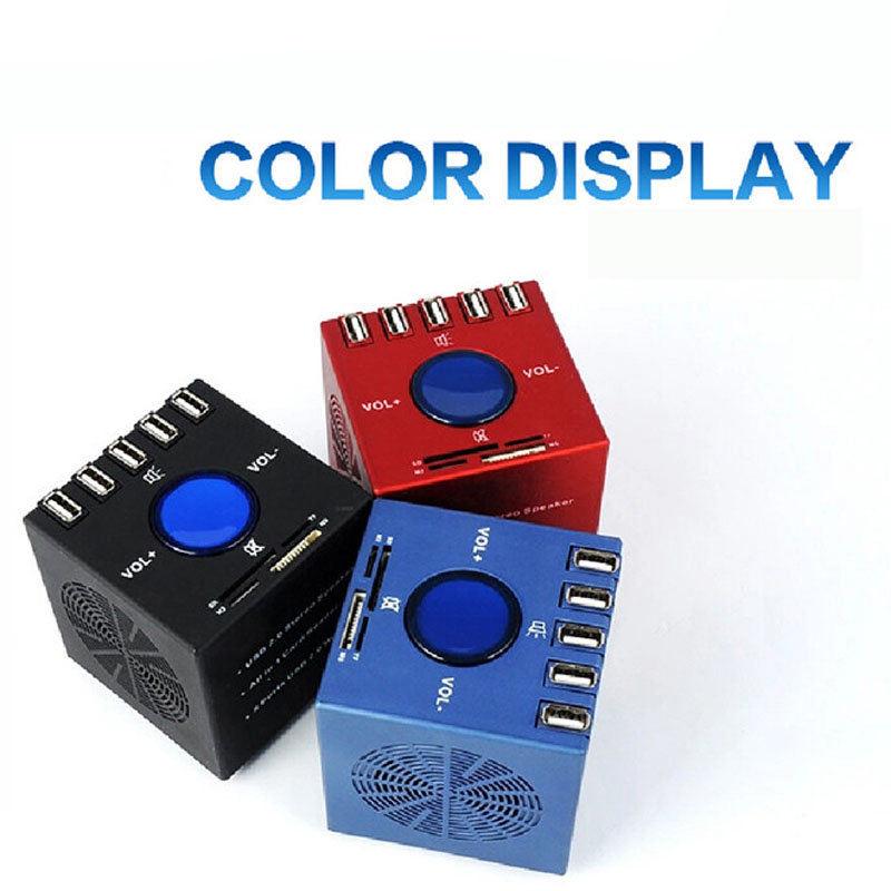 NEW 2015 Mini Speaker Household USB 2.0 Stereo Speaker + 5 Ports HUS HUB + TF/ MicroSD / SD / M2 / MS All in 1 Card Reader(China (Mainland))