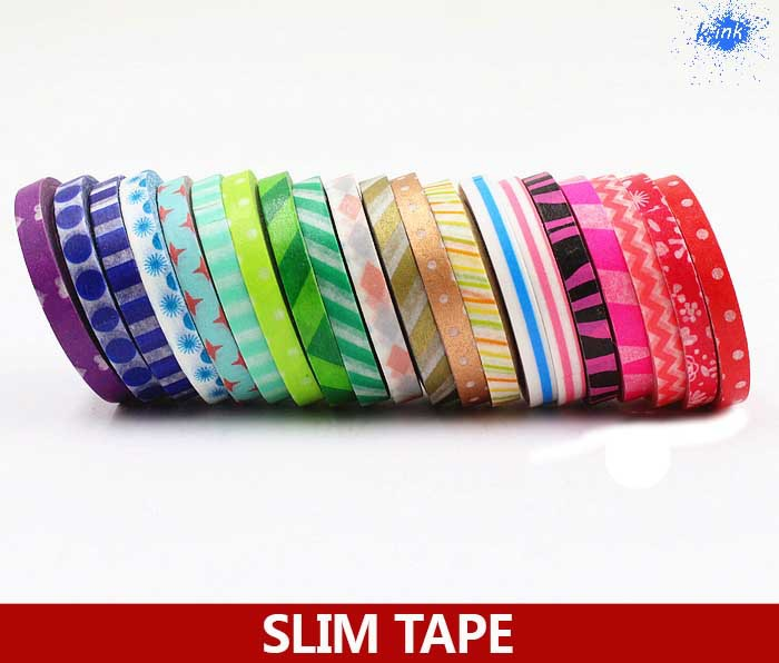 47 different colors new slim washi paper tapes , slim masking paper tape as stickers for scrapbooking , home decoration<br><br>Aliexpress