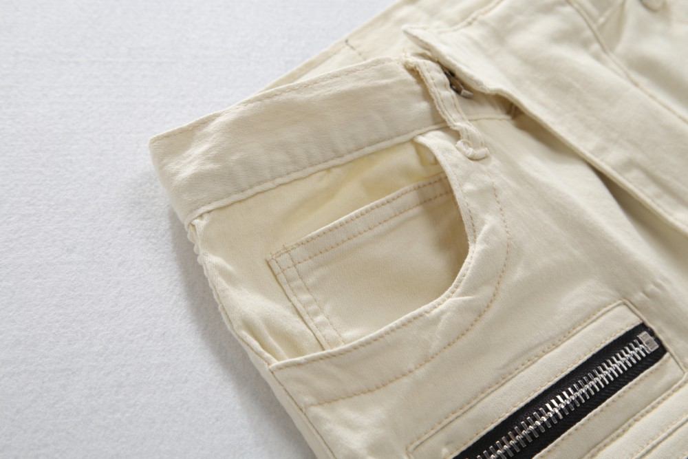 Скидки на Джинсы Мужчины Активность рваные джинсы для мужчин Прохладный Впп Байкер прямо мода проблемные Джинсовые Случайные Штаны отверстие Moto Джинсы мужчины