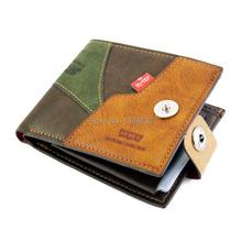 New 2015 Leather Brief Wallets Fashion Short Men Wallets Design Card Holder Cowhide Wallet Men Bag