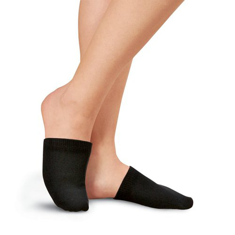 1 Pair Toe Toppers Socks Toe Cover Slings Mules Sandal Black Lady Cotton Antiskid Invisible Liner No Show pad #509
