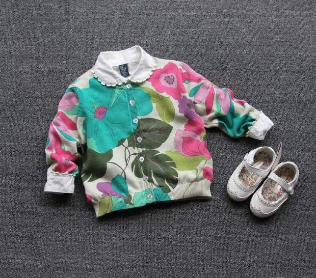 Здесь можно купить  New Special offer Girls knitting cardigan printing fine cotton sweaters spring autumn coat wholesale  Детские товары