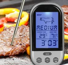 2016Digital Wireless Remote Kitchen Oven Cooking/BBQ Grill Smoker Meat Thermometer With Sensor Probe Temperature Gauge&Alert(China (Mainland))