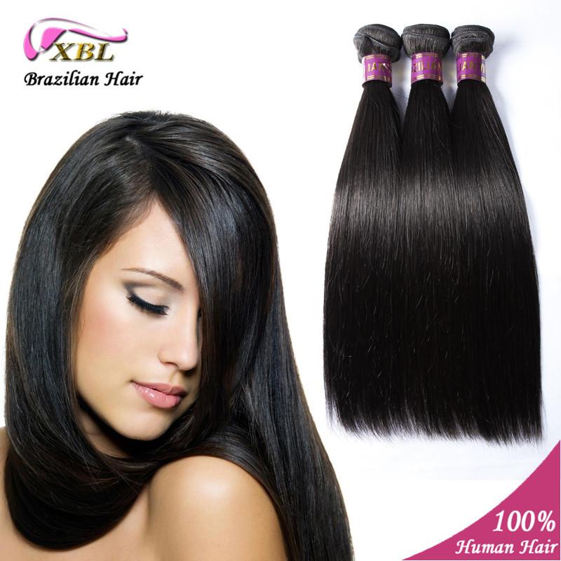 Straight Virgin Hair Bundles Brazilian Human Hair Weave 3 pcs/lot Natural Color Straight Human Hair extension 10- 24<br><br>Aliexpress