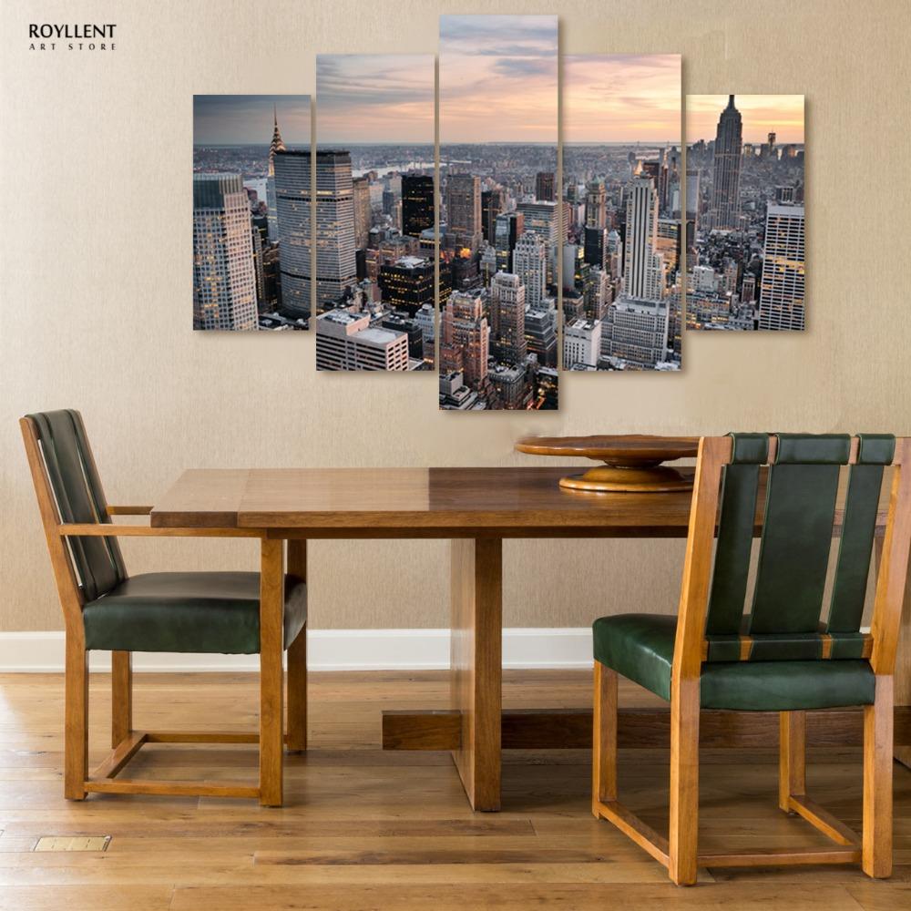 Decorative New York City Landscape Picture Painting Canvas