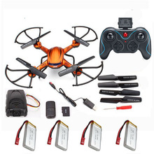 Buy 4Batteries RC quadrocopter JJRC H12C Quadcopter drone Remote Control Helicopter CF Mode Drone Camera 2MP camare for $56.76 in AliExpress store