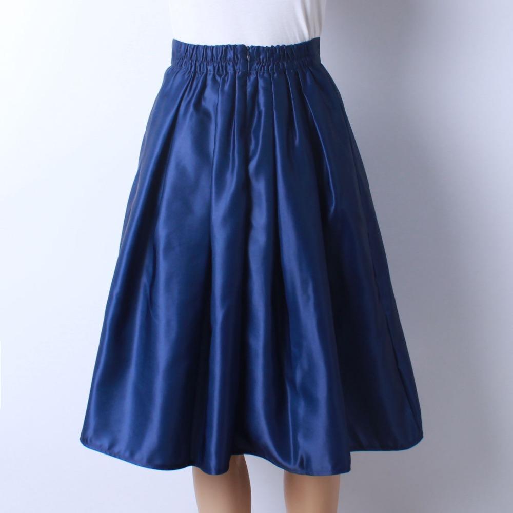 HTB18F9lQFXXXXcZXFXXq6xXFXXXO - GOKIC 2017 Summer Women Vintage Retro Satin Floral Pleated Skirts Audrey Hepburn Style High Waist A-Line tutu Midi Skirt