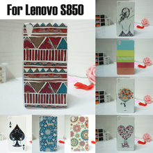 New HOT Sale Ultra thin slim Painted Cute Lovely Cartoon UV Print Hard Cover Case For Lenovo S850 cases many pattern in stock