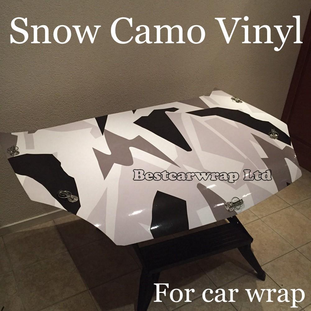 camo black white grey vinyl car snow camo wrapping (2)