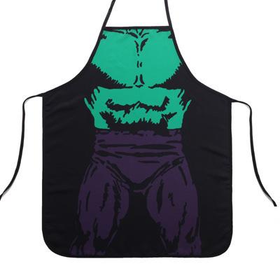 60*73cm Funny superhero Hulk Men Kitchen Cooking Apron(China (Mainland))