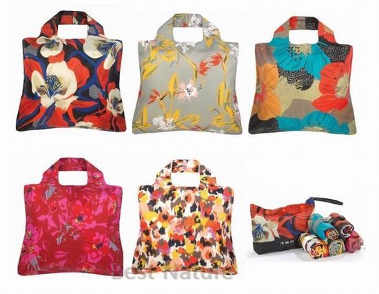 5pcs/set large women shoulder bag foldable shopping travel bags ultra light ES08 - Best Natures store